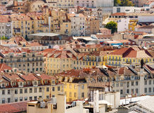Lisbon,Baixa district. Architecture of Baixa district in Lisbon,Portugal Royalty Free Stock Images
