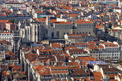 Lisbon Baixa rooftops Royalty Free Stock Photo