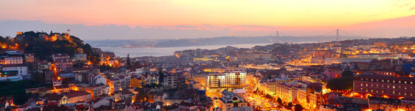 Lisbon beautiful panorama Royalty Free Stock Photo