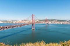 lisbon bridżowy zawieszenie Fotografia Royalty Free