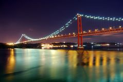 Lisbon bridge Royalty Free Stock Image