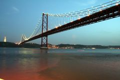 Lisbon Bridge Royalty Free Stock Photo