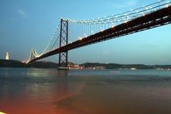 Lisbon Bridge. April 25 Lisbon Bridge at evening Royalty Free Stock Photo