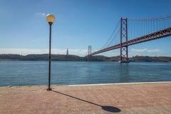 Lisbon Bridge. Lisbon 25 Abril Bridge in Portugal Stock Photos