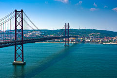 Lisbon Bridge - April 25th, Portugal Stock Photography