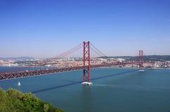 Lisbon bridge Royalty Free Stock Image