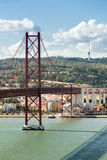 Lisbon Bridge Portugal Stock Photo