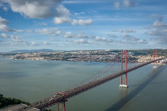 Lisbon Bridgge Royalty Free Stock Images
