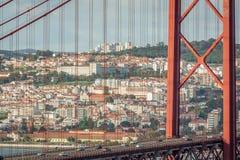 Lisbon Bridgge. View of the 25 Abril Bridge in Lisbon, Portugal Royalty Free Stock Image
