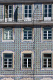 Lisbon buildings with typical traditional portuguese tiles on th Stock Photos