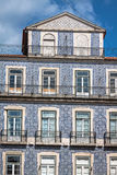 Lisbon buildings with typical traditional portuguese tiles on th Royalty Free Stock Image