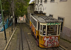 Lisbon, cable car Stock Photos