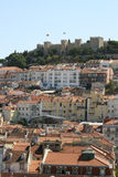 Lisbon castle. Castle of Lisbon with a part of the city Royalty Free Stock Images
