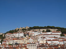Lisbon Castle hill royalty free stock images