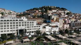 Lisbon castle hill Royalty Free Stock Photos