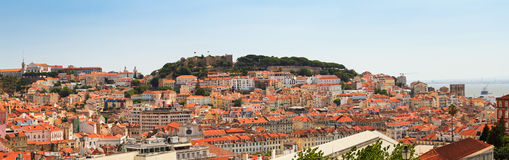 Lisbon castle panorama Stock Photo