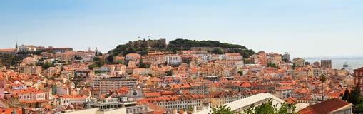Lisbon castle panorama Stock Photo