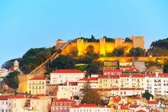 Lisbon Castle view, Portugal Stock Image