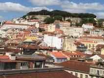 Lisbon Castle. View of S. Jorge's Castle in Lisbon center Stock Photography
