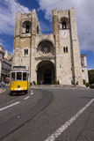 Lisbon cathedral Stock Images