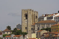 Lisbon Cathedral. Oldest Cathedral of Lisbon, Portugal (view from Tagus river&#x29 Stock Photography