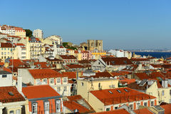 Lisbon Cathedral and Alfama district, Lisbon Royalty Free Stock Photo