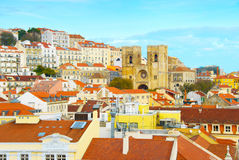 Lisbon Cathedral and Alfama district Stock Image
