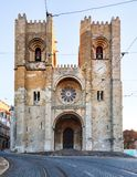 Lisbon cathedral at day, nobody.  Royalty Free Stock Photography