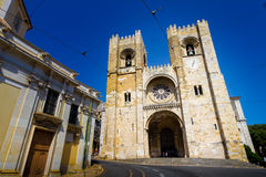 The Lisbon Cathedral in Portugal Stock Image