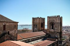 The Lisbon Cathedral royalty free stock image