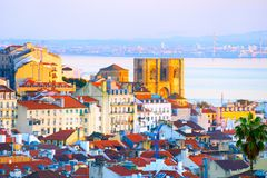 Lisbon Cathedral at sunset. Portugal Stock Image