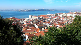 Lisbon city center panorama, Portugal Stock Images