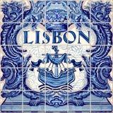 Lisbon Ceramic Tile Vector Lisboa Souvenir Stock Photography