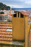 Lisbon chimney Royalty Free Stock Photo