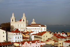 Lisbon church. Royalty Free Stock Images