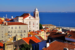 Lisbon church and Alfama Stock Photos