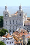 Lisbon church. In old town Royalty Free Stock Photo