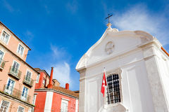 Lisbon, the church of Santa Luzia Stock Images