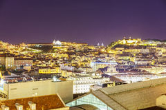 Lisbon city at night Stock Photo