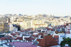 Lisbon city aerial Royalty Free Stock Photos