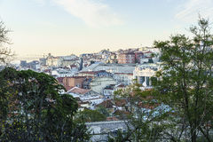 Lisbon city aerial Royalty Free Stock Images