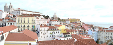 Lisbon city, europe. Lisbon city , albufeira district. View of the historic center Royalty Free Stock Photography