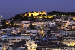 Lisbon city by night Stock Photography