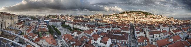 Lisbon city panorama from above Stock Photo