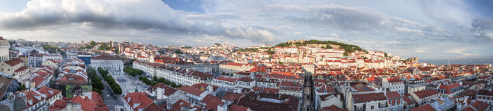 Lisbon city panorama from above Stock Photos