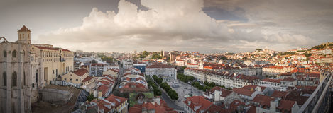 Lisbon city panorama from above Royalty Free Stock Photo