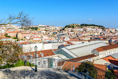 Lisbon city panorama on Alfama Royalty Free Stock Photos