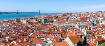 Lisbon City Panorama, Portugal Stock Photo