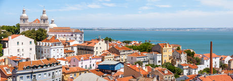 Lisbon City Panorama, Portugal Stock Images