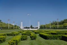 Lisbon city park Royalty Free Stock Photo
